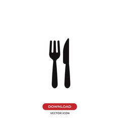 fork and knife icon restaurant symbol vector image