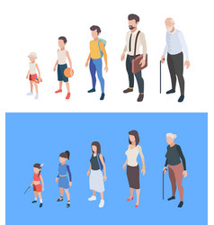 generations persons male and female characters vector image