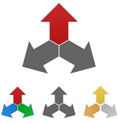 Geometric Arrow Logo Set vector