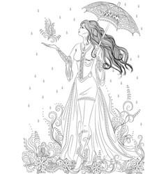 Girl in form flora vector