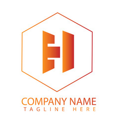 h logo design vector image