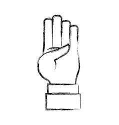 hand number symbol vector image