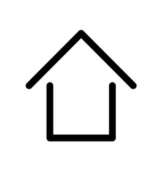home sign symbol of house outline modern design vector image
