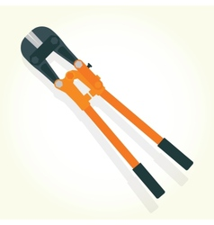 Hydraulic shears isolated vector image