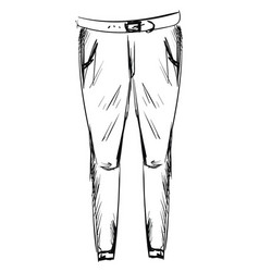 jeans drawing on white background vector image