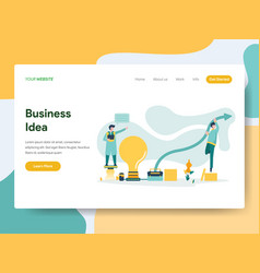 Landing page template business idea concept vector
