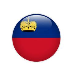 Liechtenstein flag on button vector