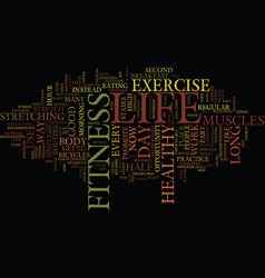 Life fitness text background word cloud concept vector