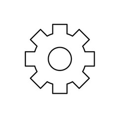 line gear engineering industry process technology vector image