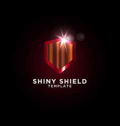 luxury shield graphic design template vector image