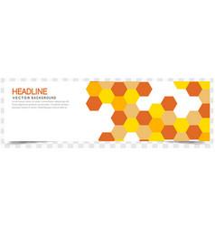 modern yellow orange honeycomb white background he vector image