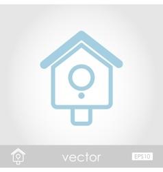 Nesting box bird-house icon vector