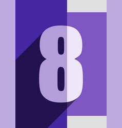 Numbers background flat design vector
