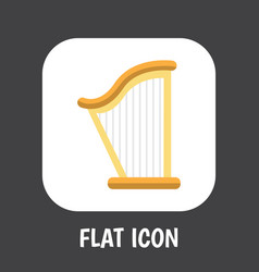 Of mp3 symbol on harp flat vector