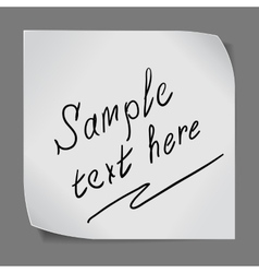 Paper sticker over grey background vector