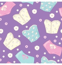 Pattern Of Corset And Shorts vector