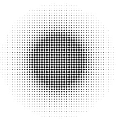radial graphical black and white gradient halftone vector image