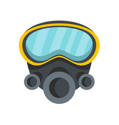 respirator icon flat style vector image