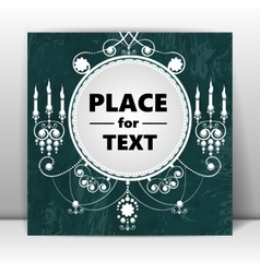 Retro background with place for your text vector image