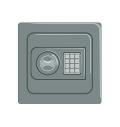 Safe box with a keypad buttons panel safety vector