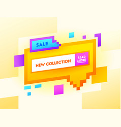 sale new collection banner with typography vector image