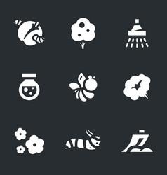 set gardening icons vector image