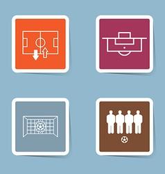 Soccer icon set vector