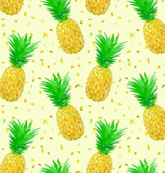 sparse low poly pineapple pattern vector image