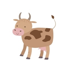 Spotted Brown Cow Standing vector