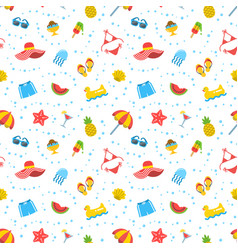 Summer beach sea vacation seamless pattern vector