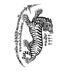 Tattoo Thai Style 5 vector image