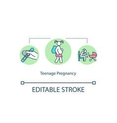 Teenage pregnancy concept icon vector