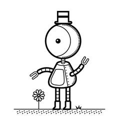 Top Hat Robot vector