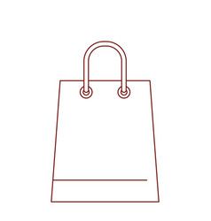 trapezoid shopping bag icon with handle in dark vector image