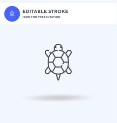 turtle icon filled flat sign solid vector image