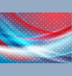 Usa colors and stars abstract bright wavy vector