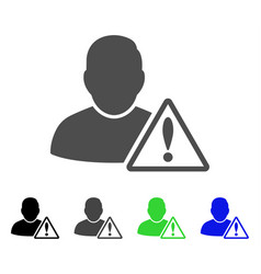 User warning flat icon vector