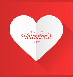 valentine day abstract background with cut paper vector image