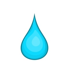 Water drop icon cartoon style vector image