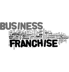 Which is the best franchise business text word vector