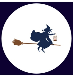 Witch computer symbol vector