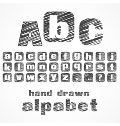 a b c alphabet vector image vector image