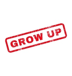 Grow up text rubber stamp vector