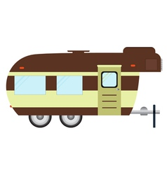 RV camping Logo and badge isolated on white backg vector image
