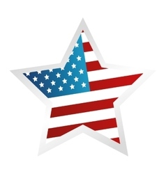 usa symbol flag star isolated design vector image