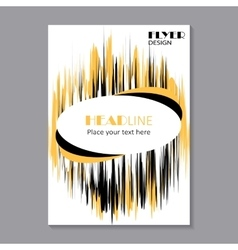 business brochure flyer design vector image vector image