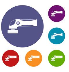 grinder machine icons set vector image vector image