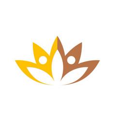 lotus flower beauty spa logo vector image vector image