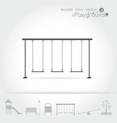 playground icon isolate set vector image
