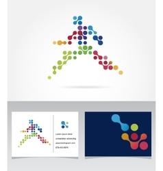 Running marathon people run colorful icon vector image vector image